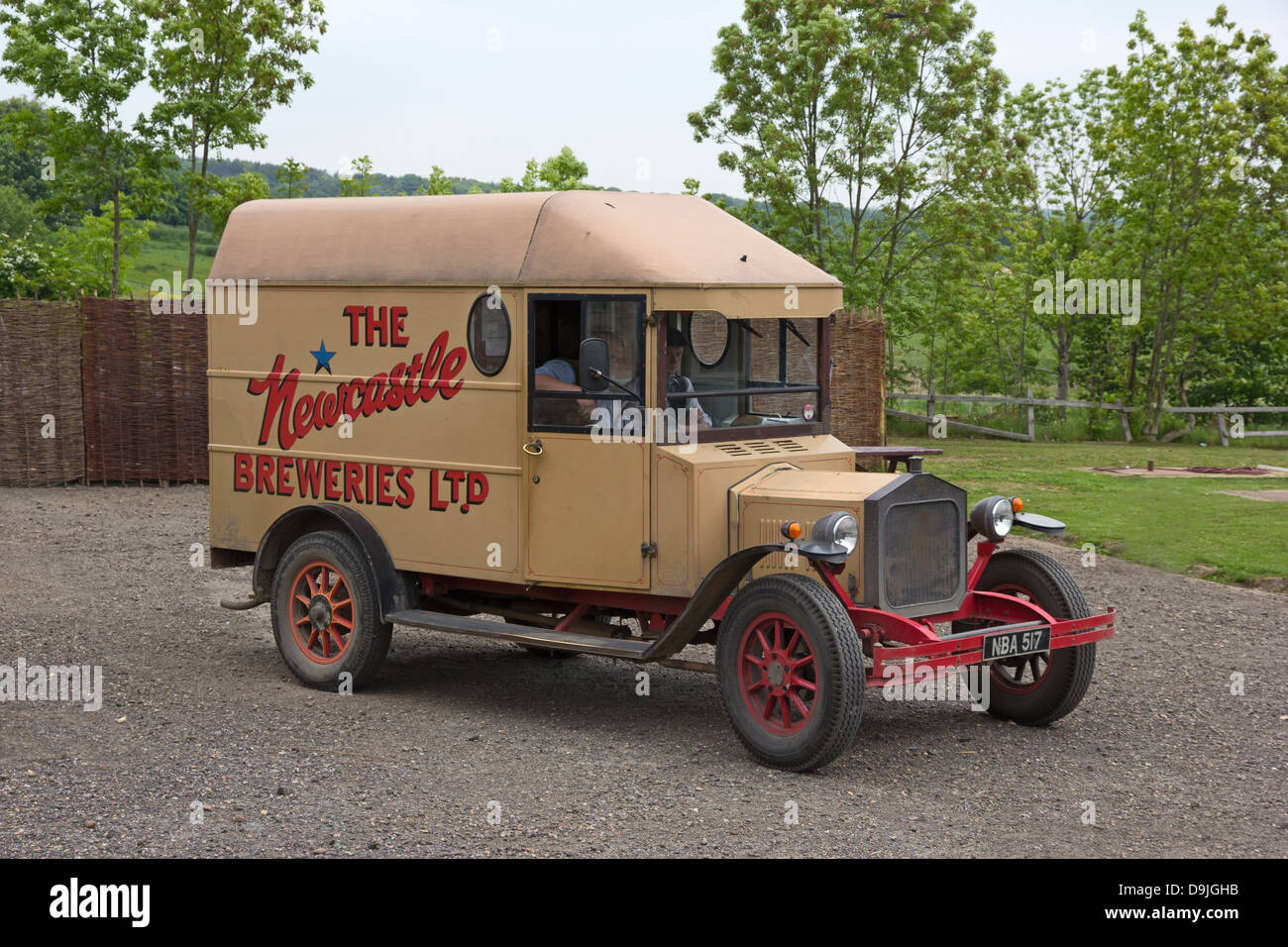 Old Newcastle Breweries delivery van - Stock Image