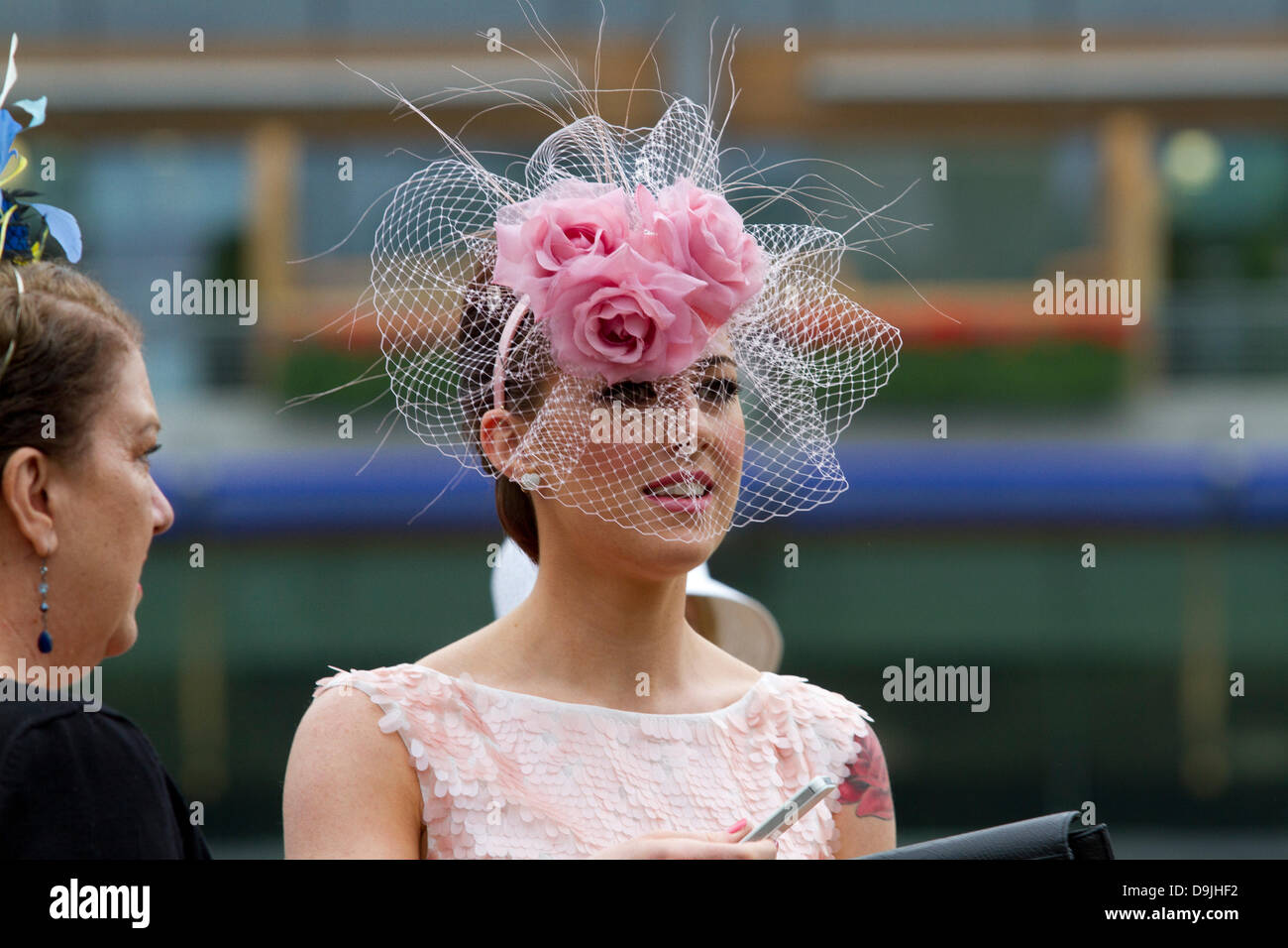 Ascot, Berkshire, UK. 20th June 2013. Third day of Royal Ascot is traditionally known as ladies day. The Ladies - Stock Image