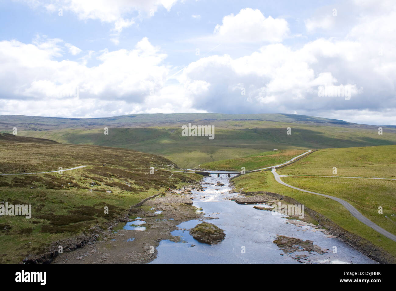 View over the River Tees in the North Pennines - Stock Image