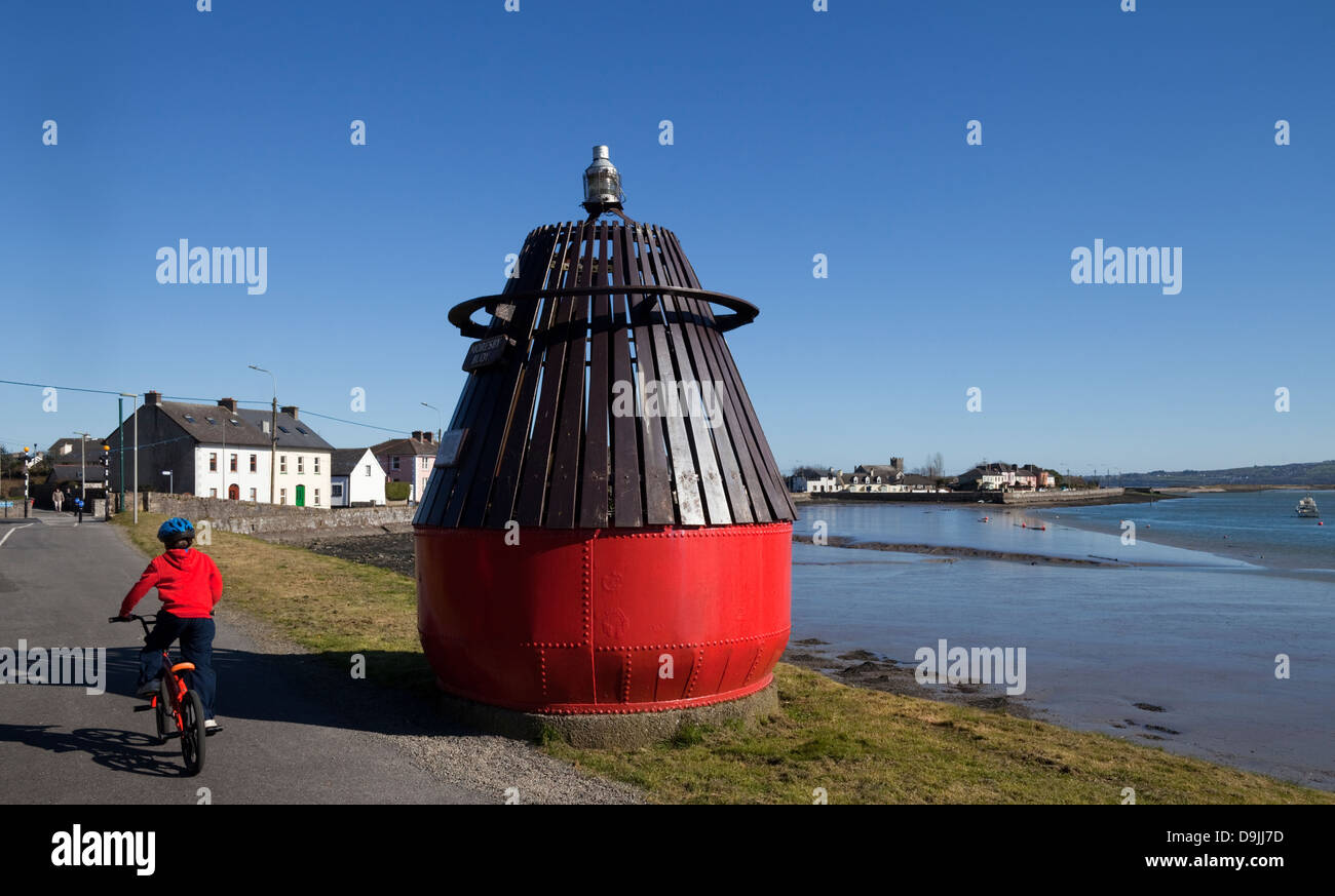 Memorial bouy of the 'Moresby' that sank in Dungarvan Bay in 1895 with the loss of 20 lives, County Waterford, - Stock Image