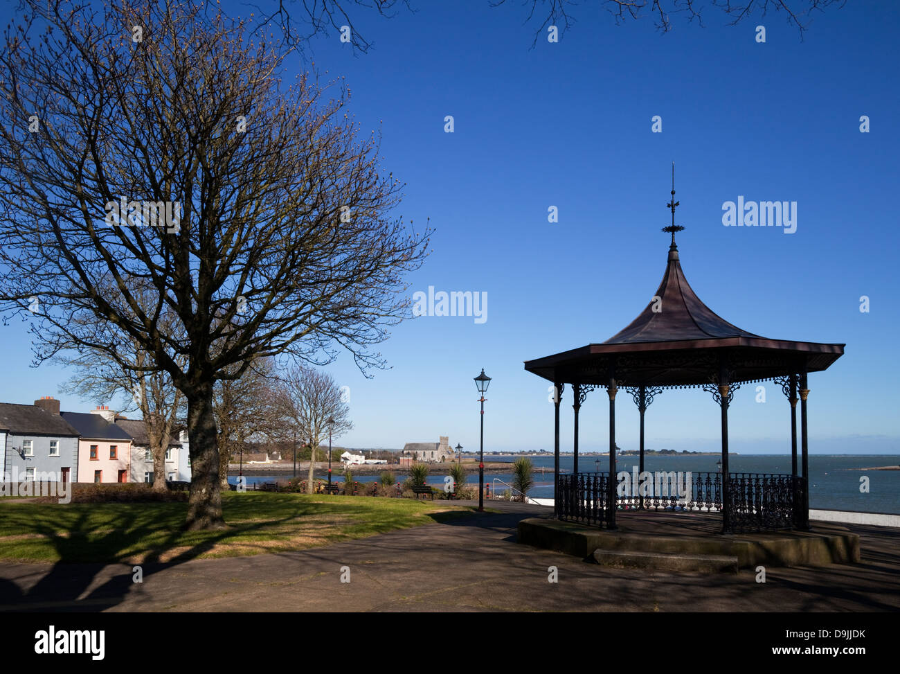 The VIctorian Band Stand made in 1897, at the Lookout, Overlooking Abbeyside and Dungarvan Bay, County Waterford, - Stock Image