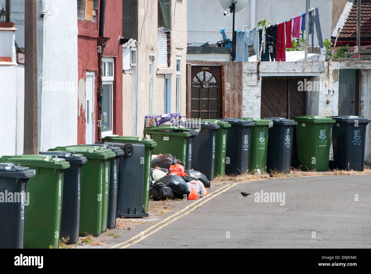 urban decay in great yarmouth, norfolk, england - Stock Image