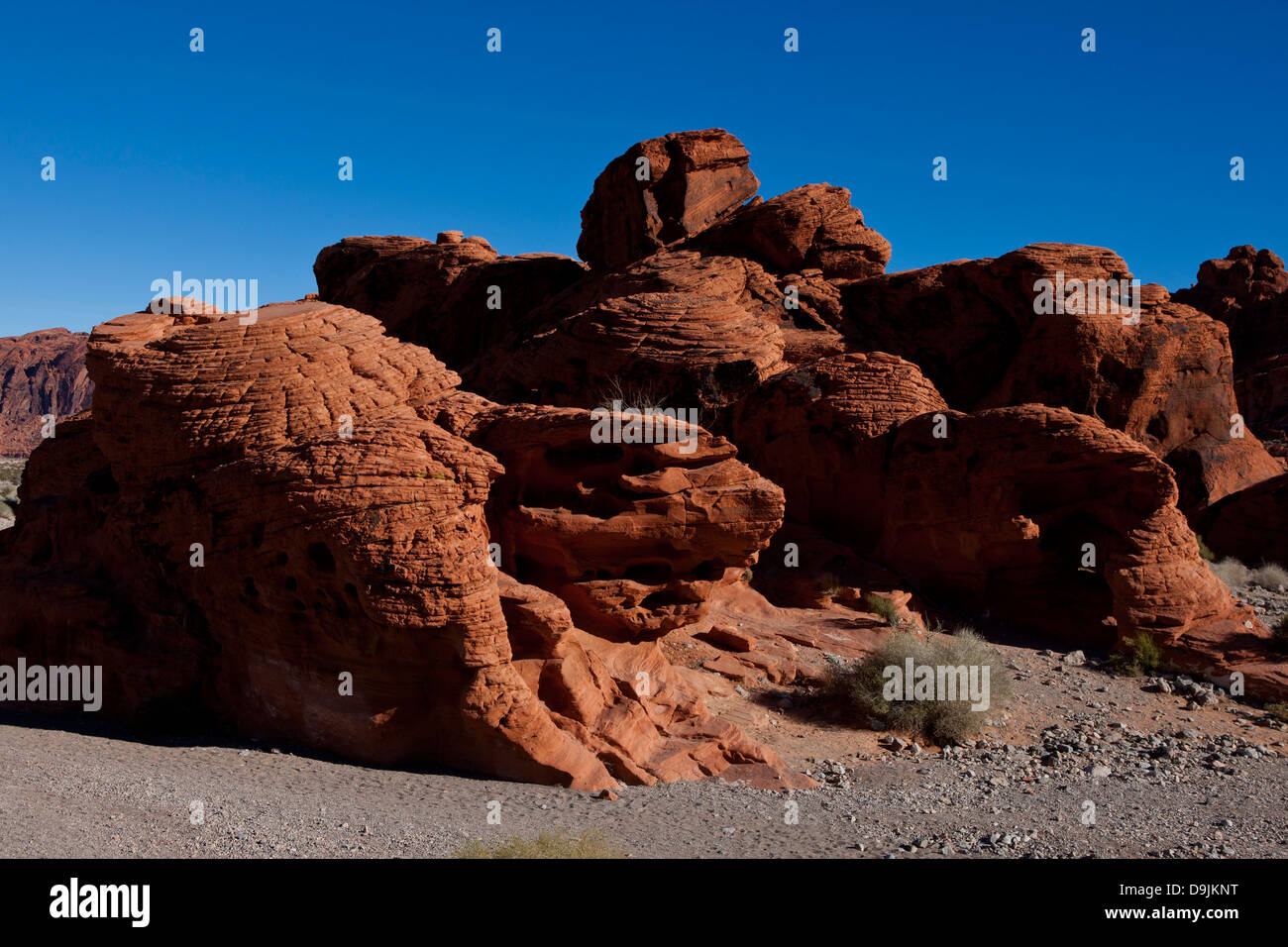 The Beehives, red sandstone rock formations, Valley of Fire State Park, Nevada, United States of America - Stock Image