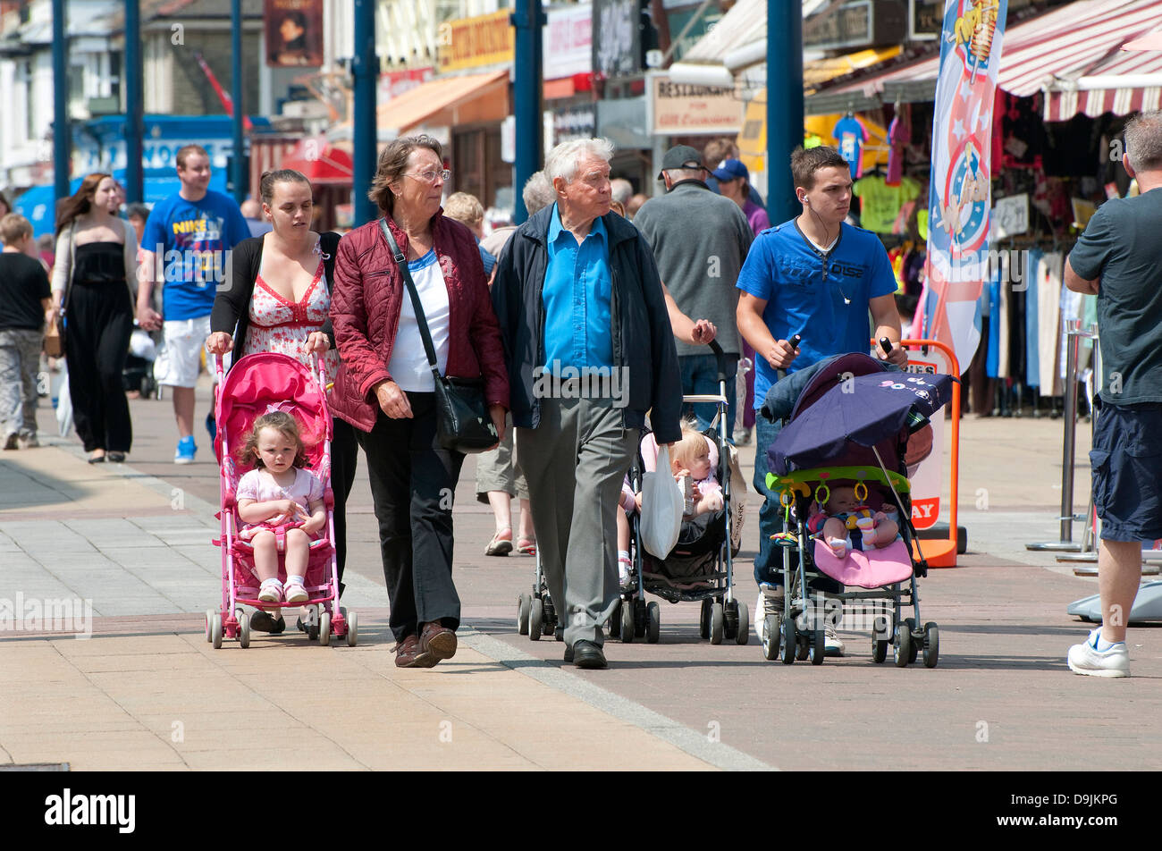 holidaymakers, regent road, great yarmouth, norfolk, england - Stock Image