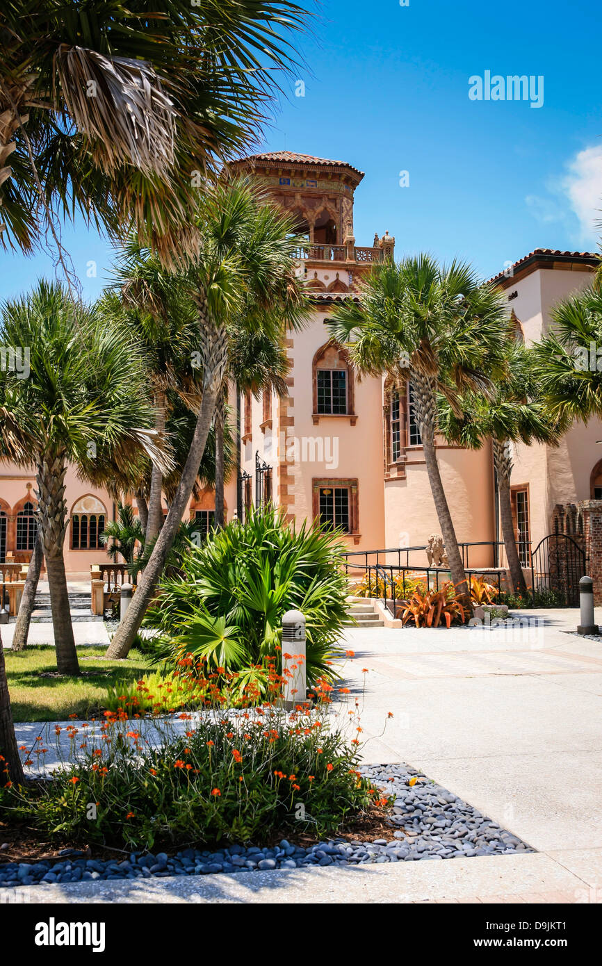 The Ca d' Zan Mansion in Sarasota FL, home of John and Mable Ringling. Stock Photo