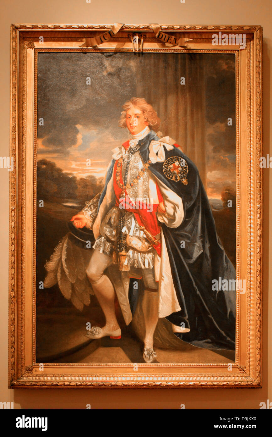 Portrait of King George IV of England and Prince of Wales C1796 - Stock Image