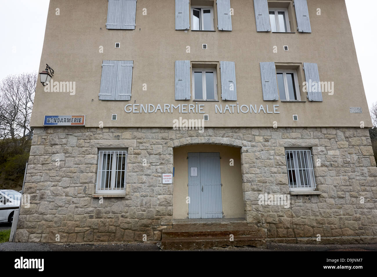 gendarmerie nationale police station mont-louis pyrenees-orientales france - Stock Image