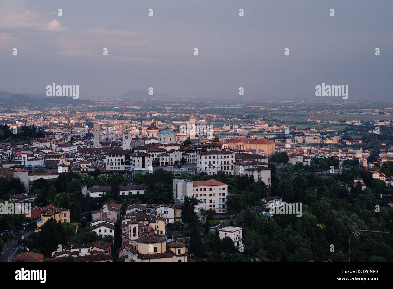 City of Bergamo.  Lombardy, Italy - Stock Image