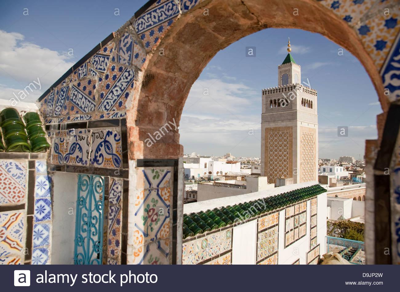 Al Zaytuna Mosque Tunis Tunisia Stock Photo Alamy