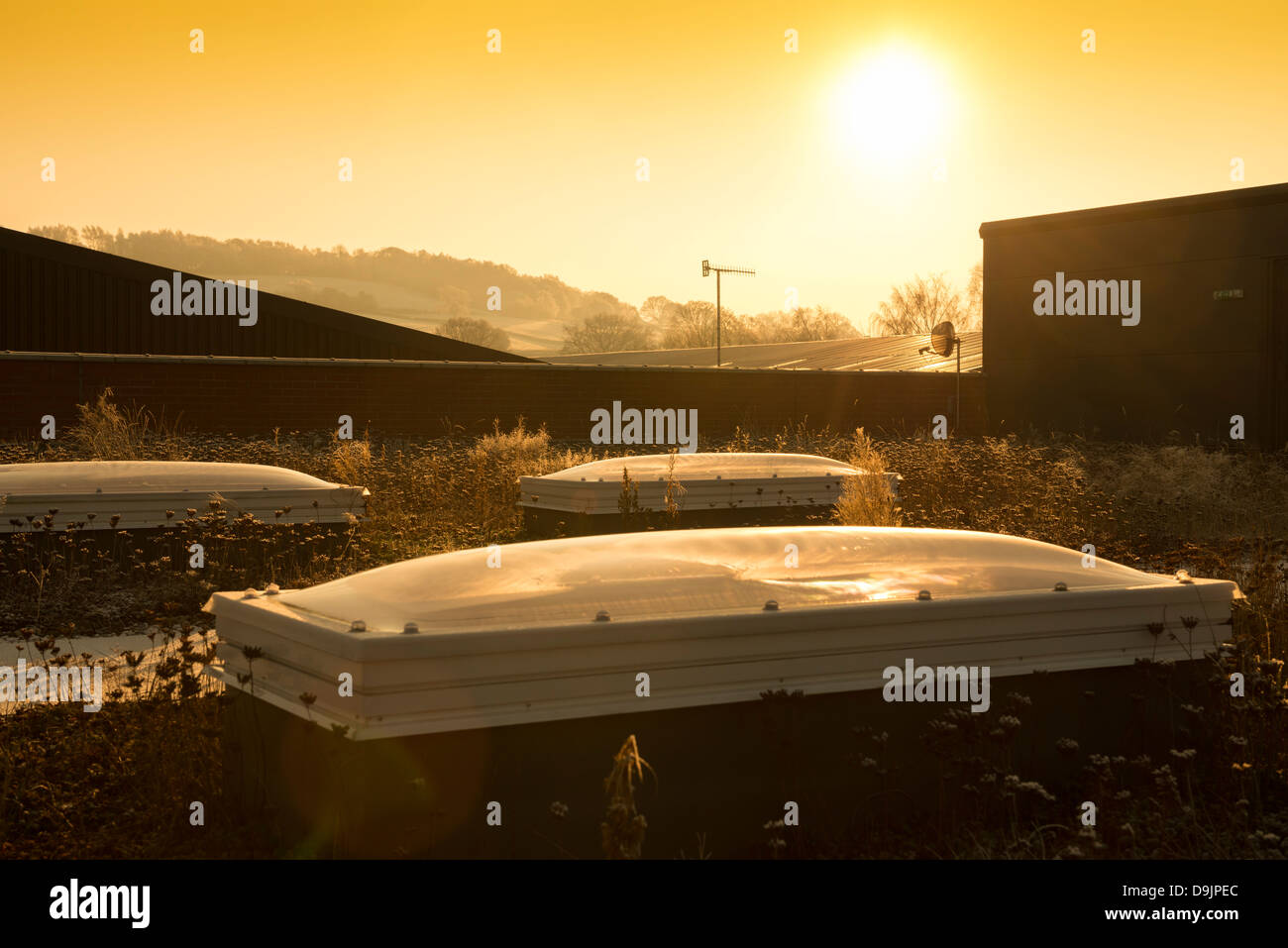 Natural light system on a rooftop - Stock Image
