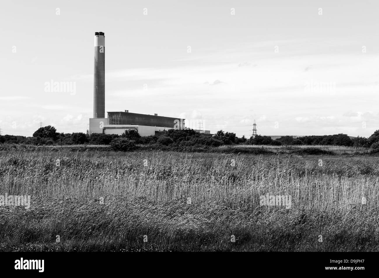 Fawley Power Station is an oil-fired power station located on the western side of Southampton Wate - Stock Image