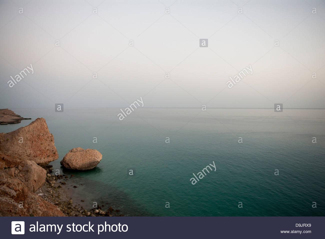 Coastline near Hadibu, Socotra, Yemen - Stock Image