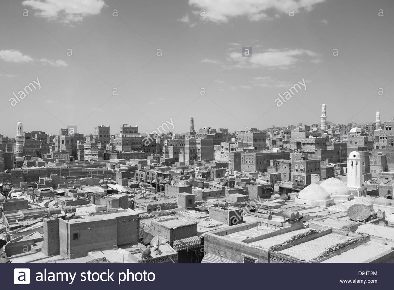 Rooftops of Old Town, Sana'a, a World Heritage Site which has been inhabited for over 2,500 years. Sana'a, - Stock Image