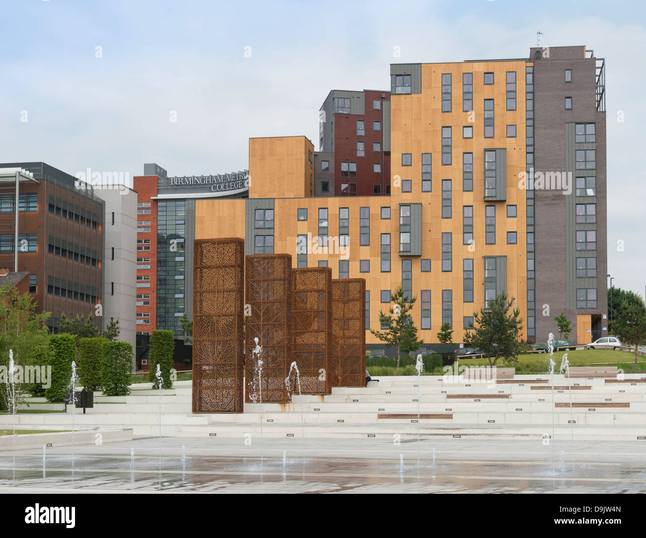 Jennens Court Halls of Residence, part of Birmingham City University - Stock Image