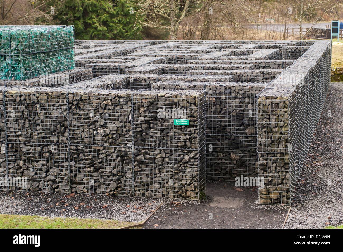 Minotaur Maze at Kielder Castle, Northumberland. - Stock Image