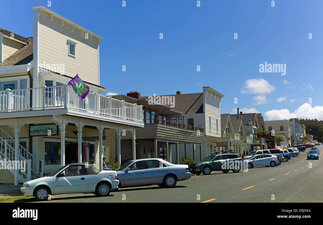Summer of 42 Film Location, Main Street, Mendocino California - Stock Image