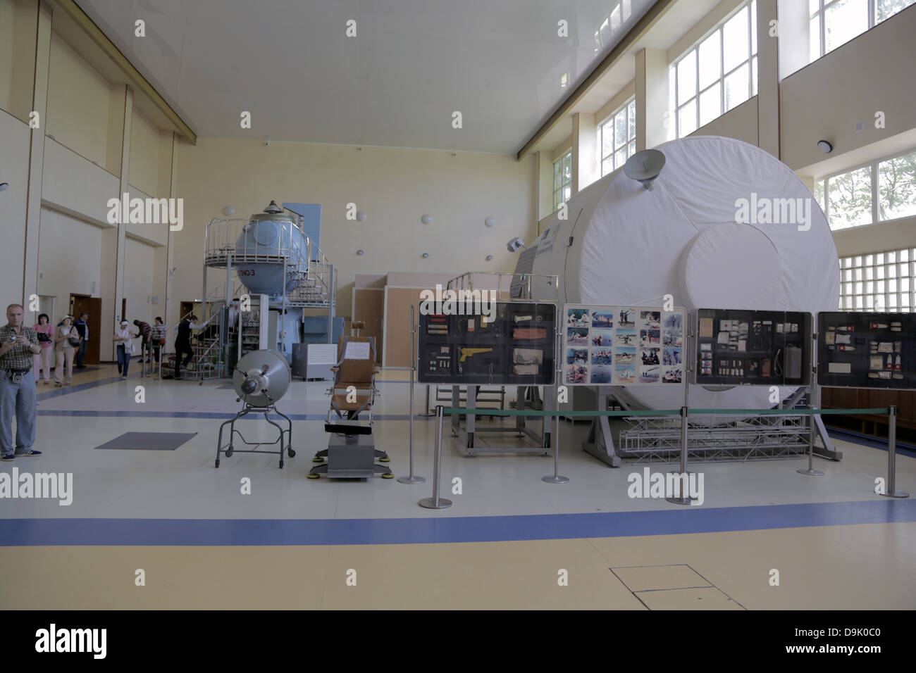 Yuri Gagarin State Scientific Research-and-Testing Cosmonaut Training Center. Moscow, Russia, Soyuz TMA, training, - Stock Image