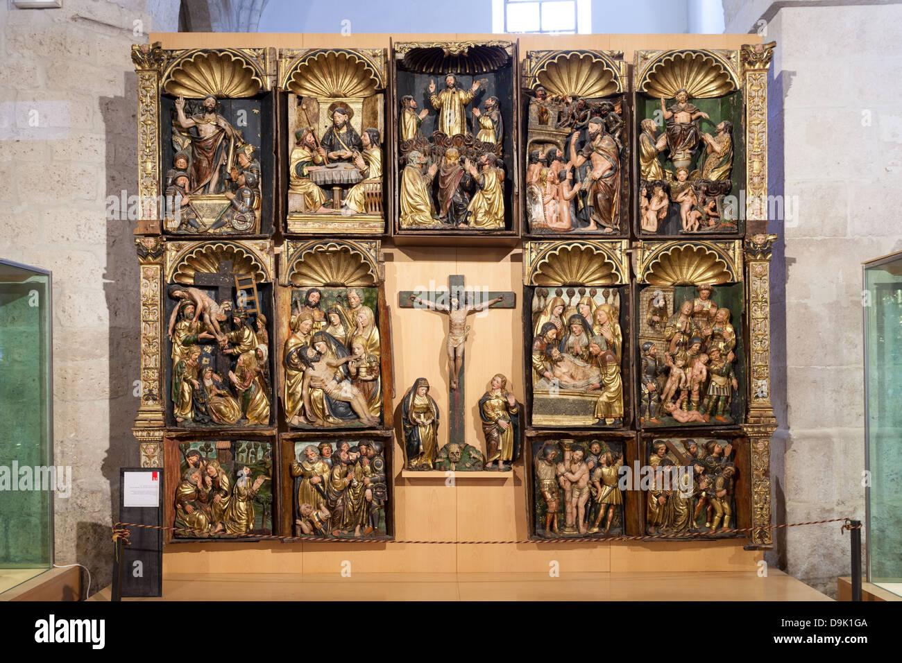 Retablo de las Animas at the Sacred Art Museum - Peñafiel, Spain Stock Photo