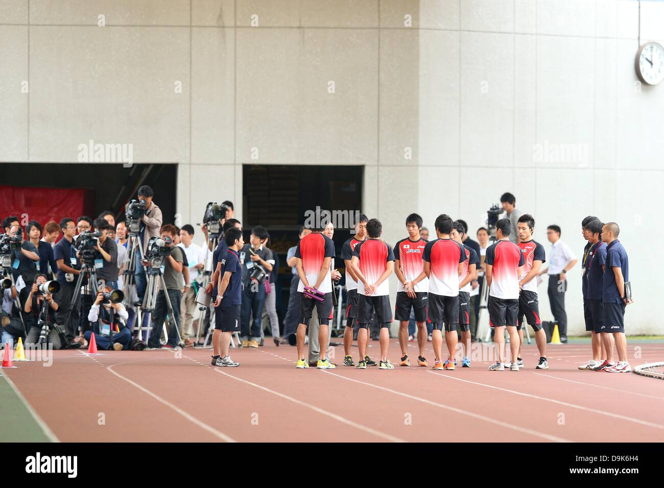 General view, JUNE 21, 2013 - Athletics : Men's 4x100m Relay Japan National Team for the IAAF World Championships - Stock Image