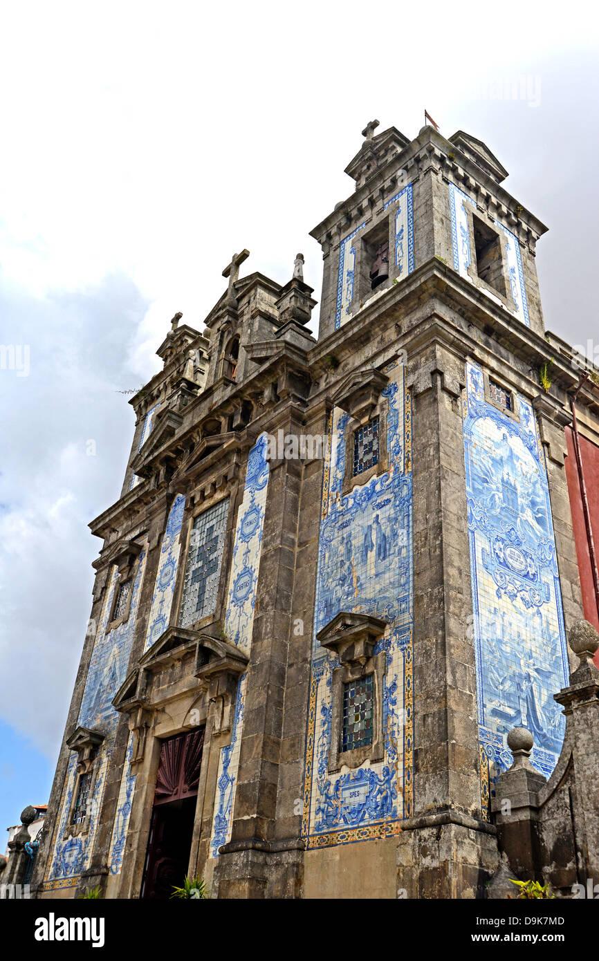 Santo Idefonso churh Batalha square Porto Portugal - Stock Image