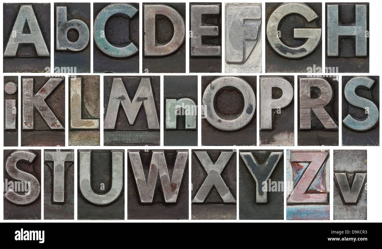 Metal Letter Type Blocks Stock Photos  Metal Letter Type Blocks