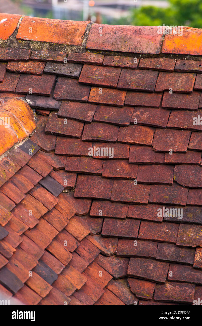 Red Clay Roof Tiles Valley Stock Photo Alamy