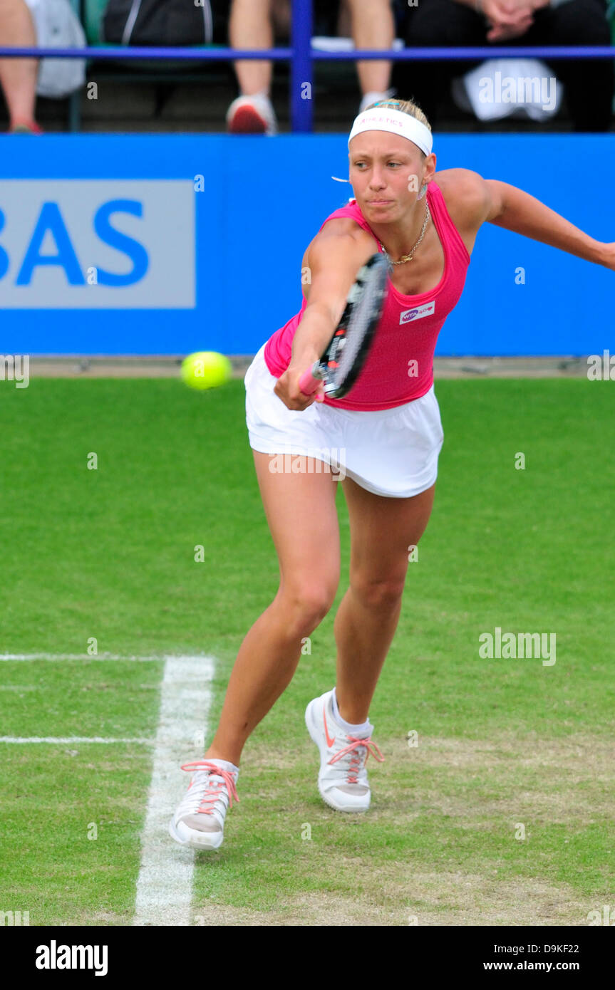 Yanina Wickmayer (Germany) at Eastbourne 2013. - Stock Image