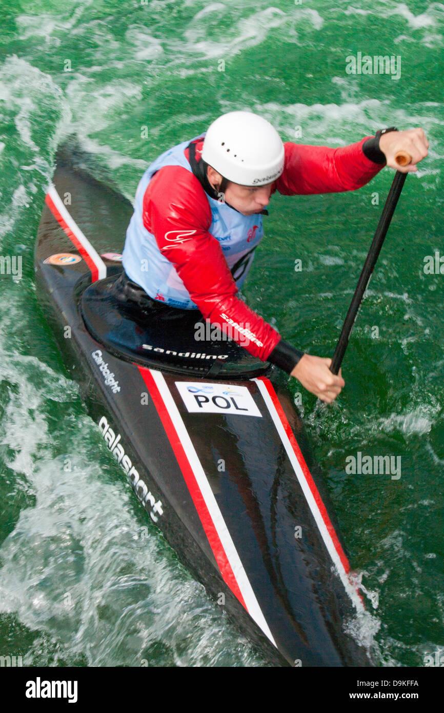 Kacper,GONDEK  Poland competing in heat 1 canoe single (c1