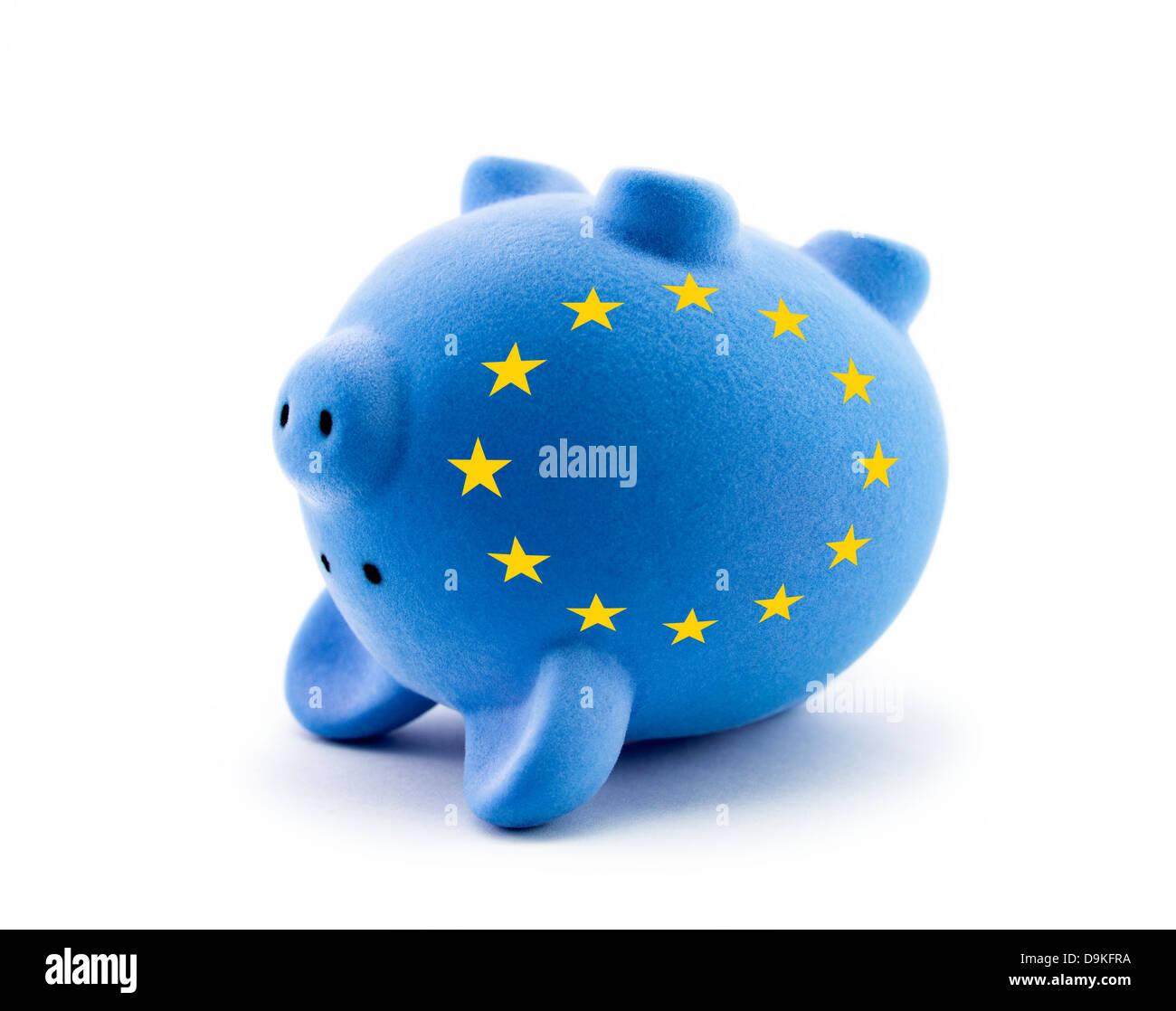 European economic crisis - Stock Image