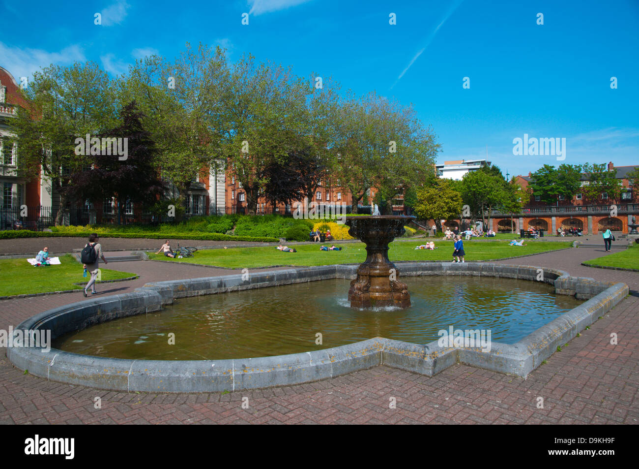 St Patrick cathedral gardens park central Dublin Ireland Europe Stock Photo