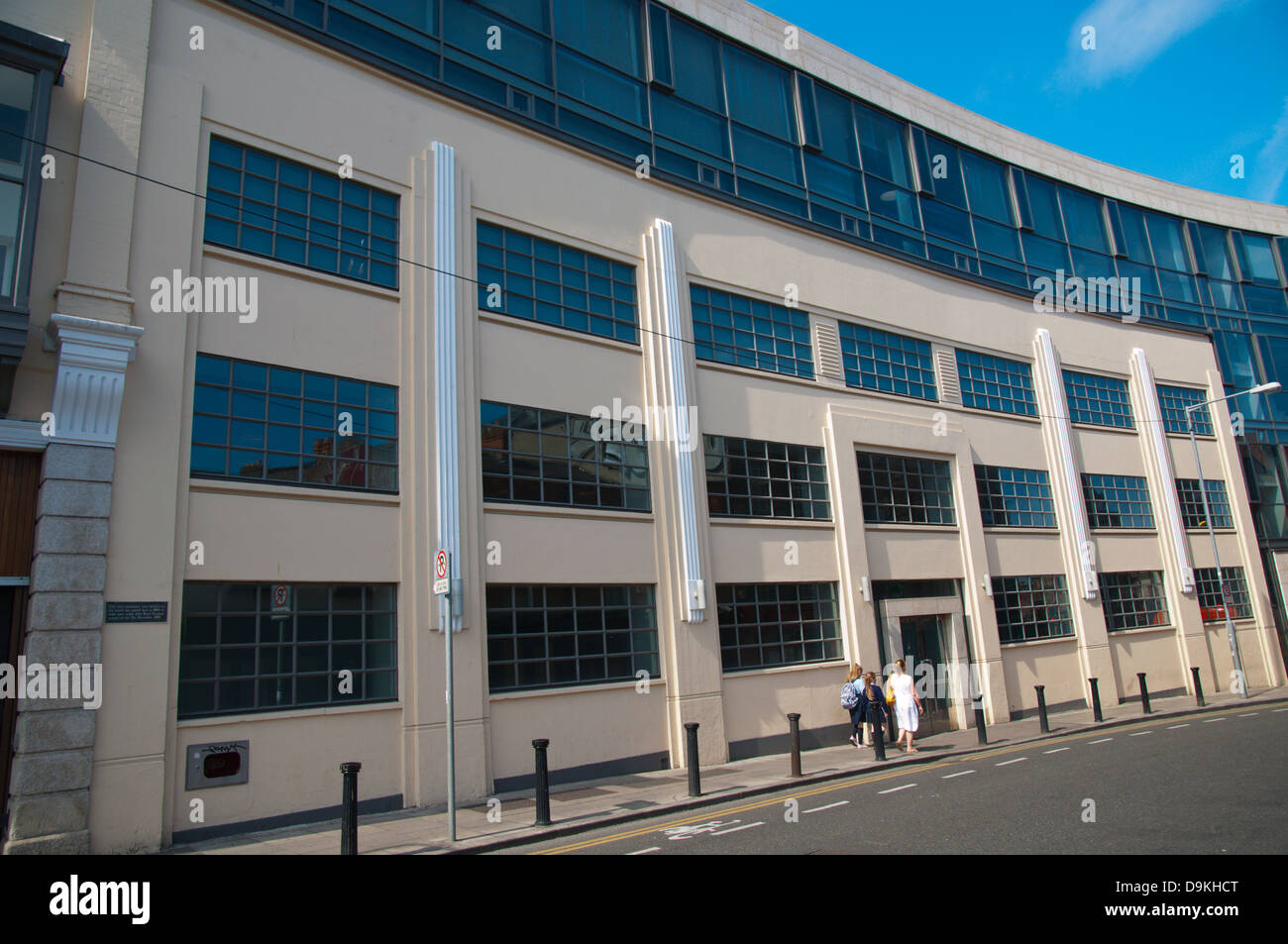 Building in which world's first pneumatic tyre factory Dunlop was started in 1889 central Dublin Ireland Europe - Stock Image