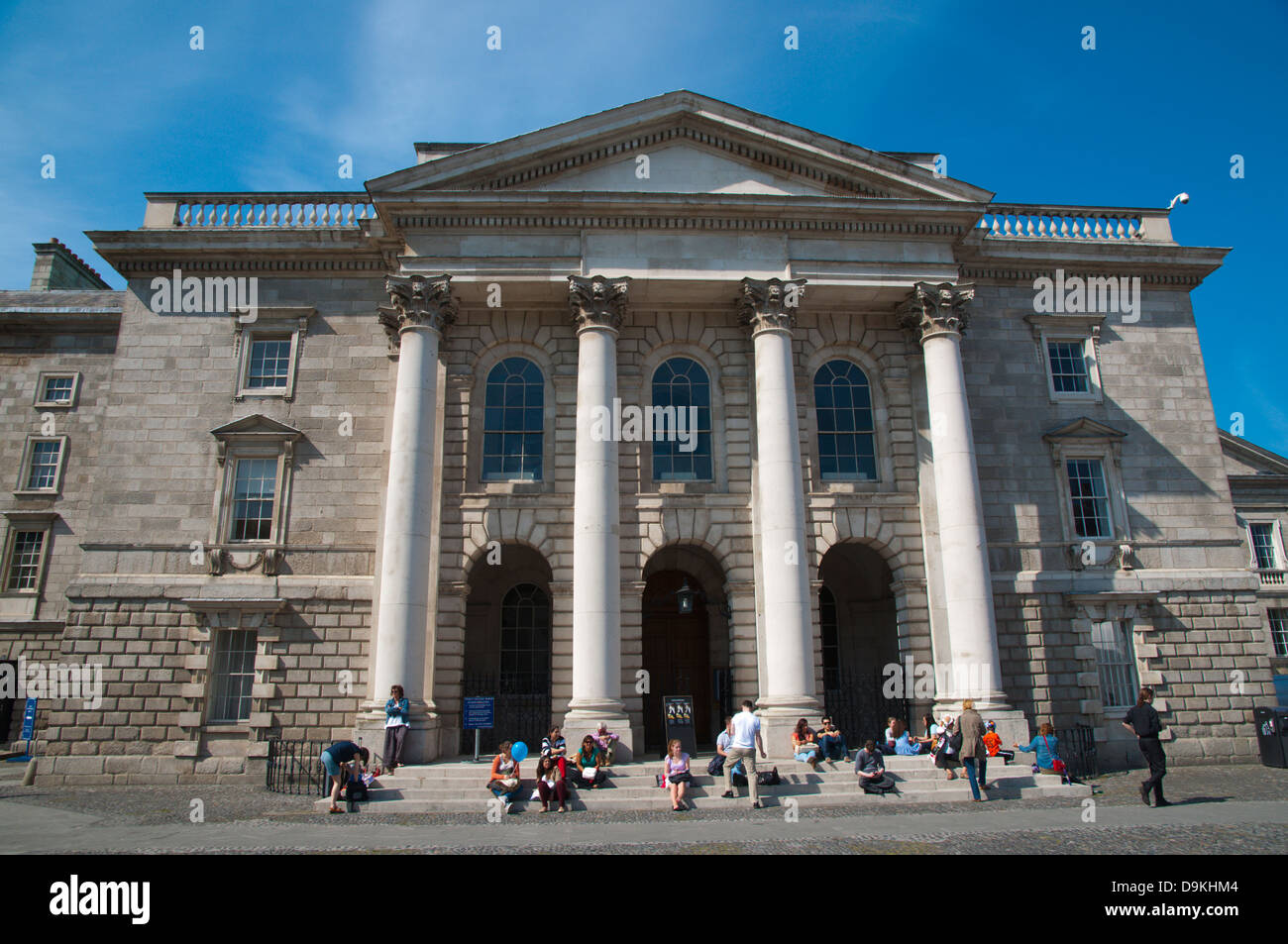 The chapel Trinity college university area central Dublin Ireland Europe - Stock Image