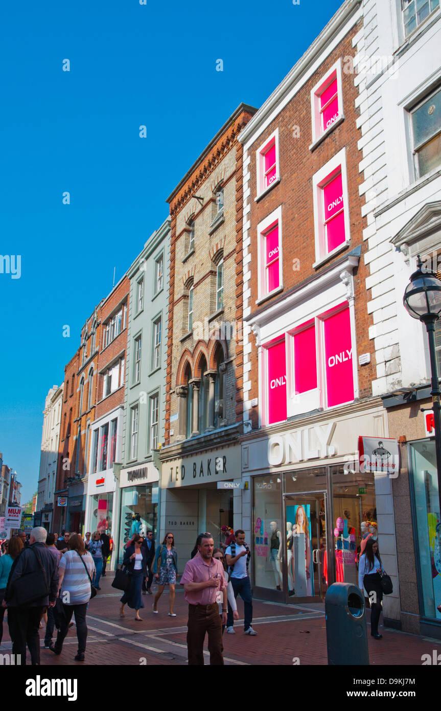 Grafton Street central Dublin Ireland Europe - Stock Image