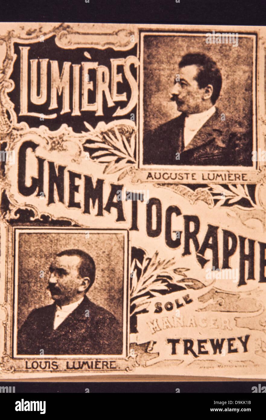 poster,auguste marie louis nicholas lumiere,louis jean lumiere - Stock Image