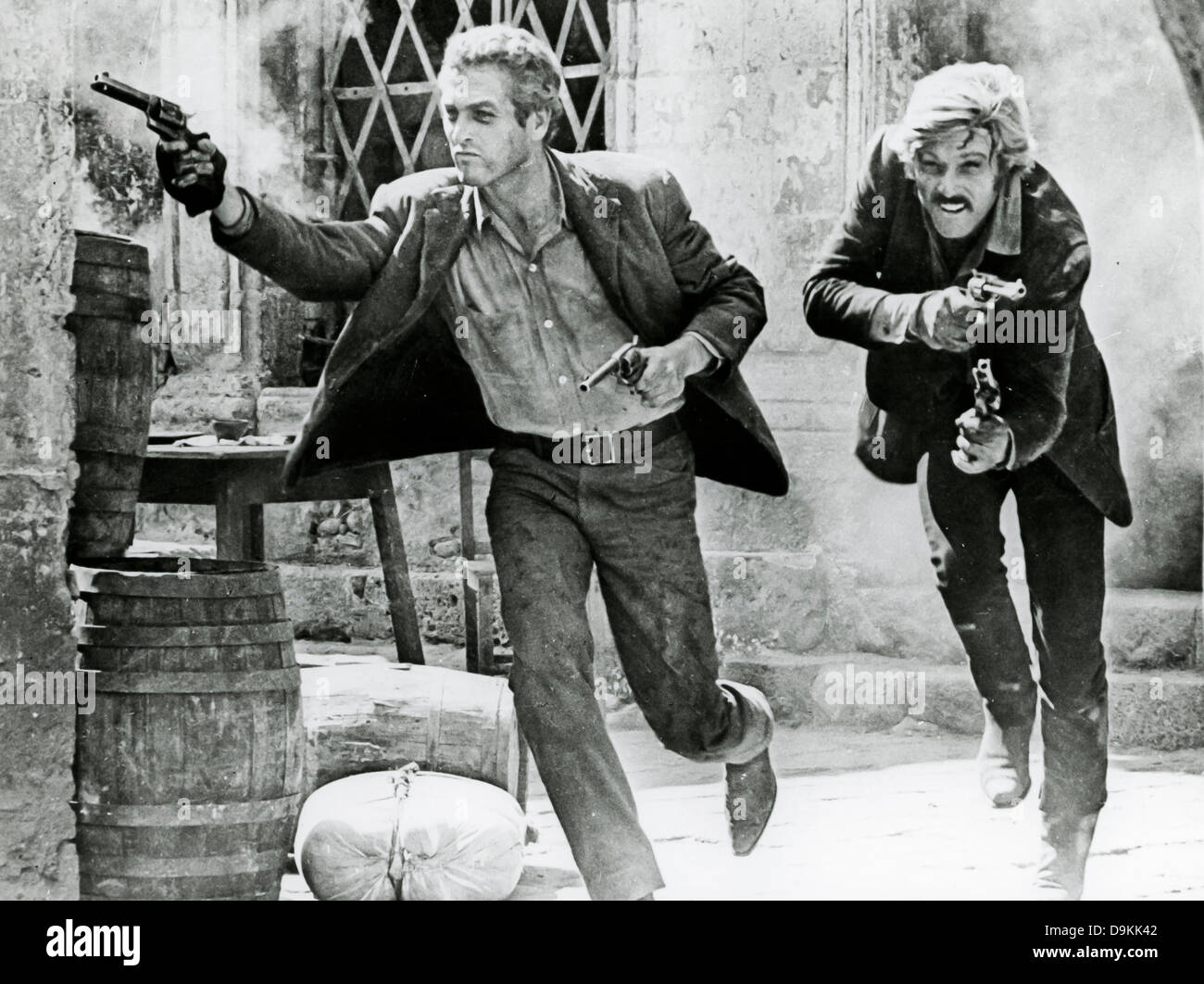 Robert Redford,Paul Newman,Butch Cassidy 1969 - Stock Image