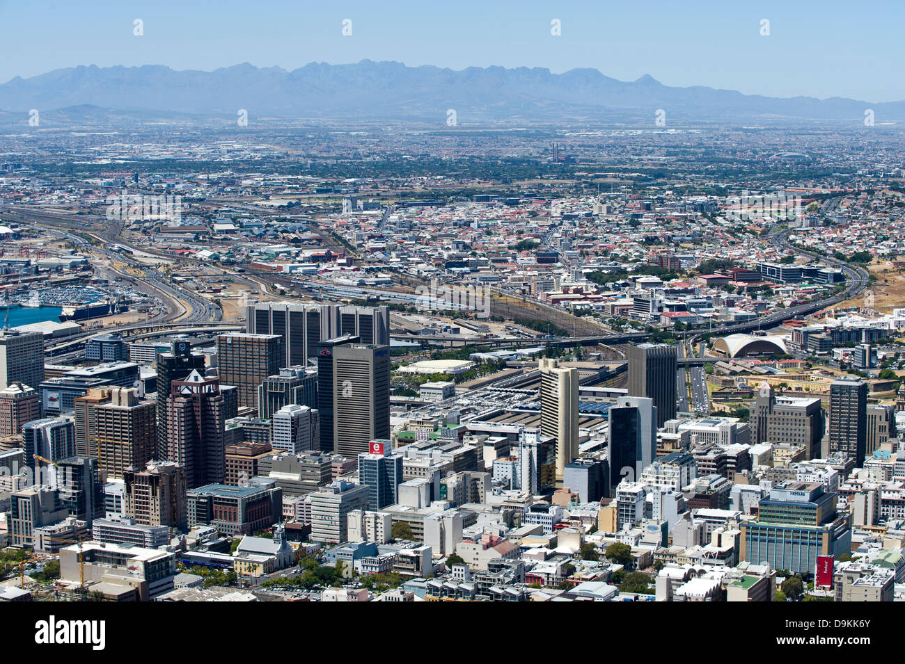 Skyline Cape Town, South Africa - Stock Image