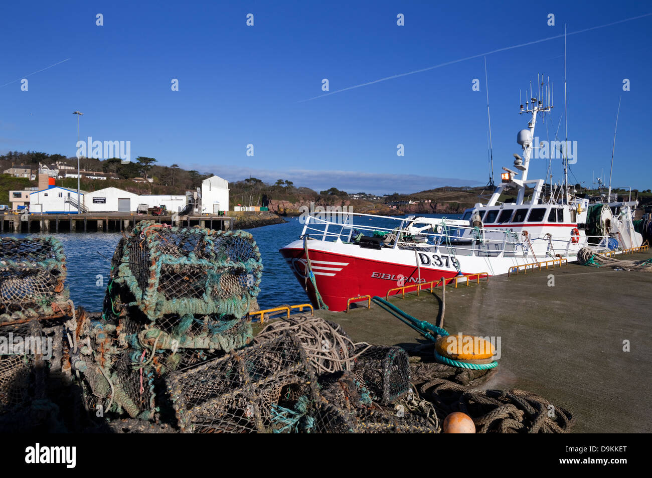The Fishing Harbour, Dunmore East Fishing Port, County Waterford, Ireland - Stock Image