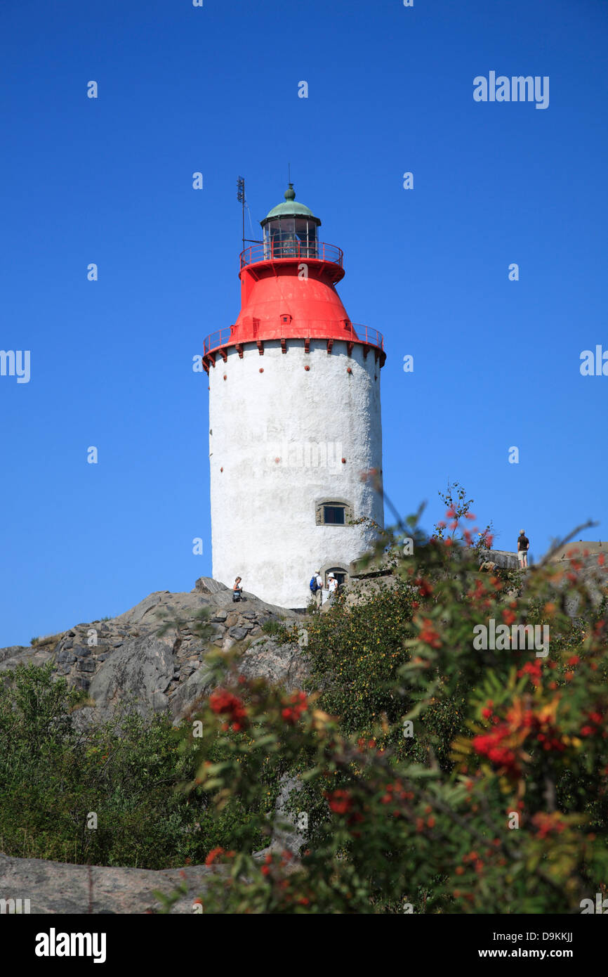 Landsort Island (Oeja), lighthouse, Stockholm Archipelago, baltic sea coast, Sweden, Scandinavia Stock Photo