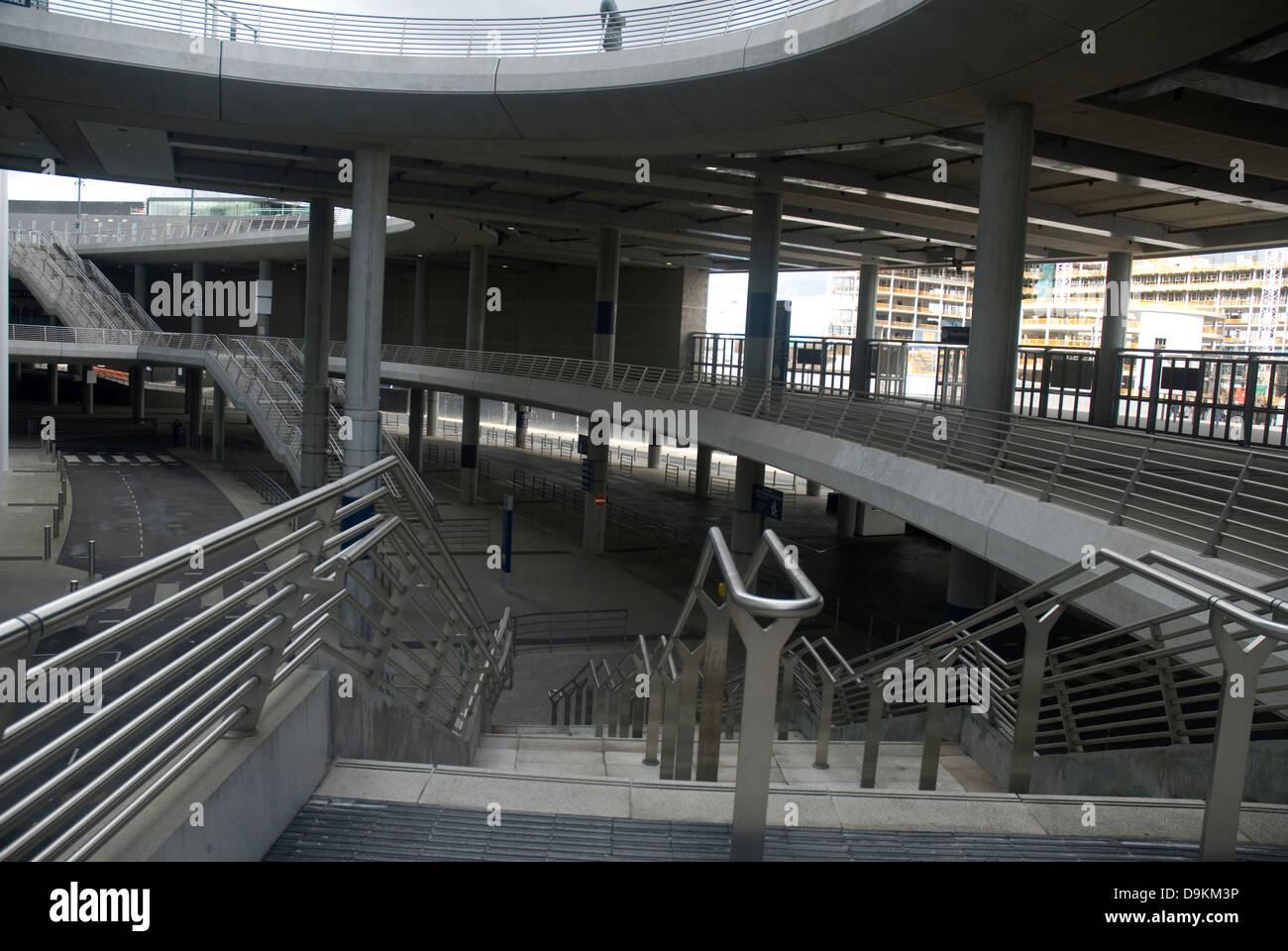 concrete stairs at stadium Stock Photo
