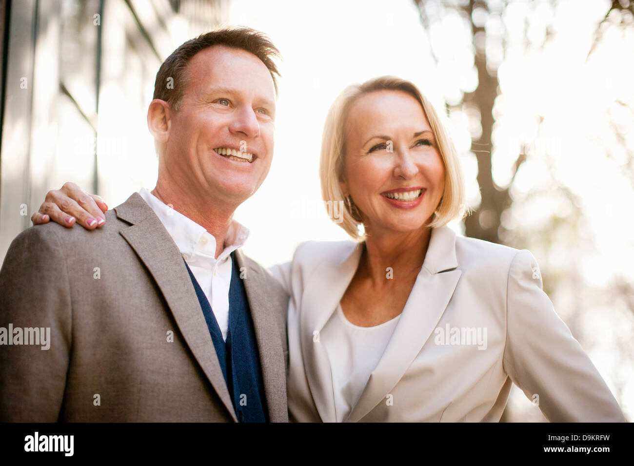 Happy heterosexual couple - Stock Image