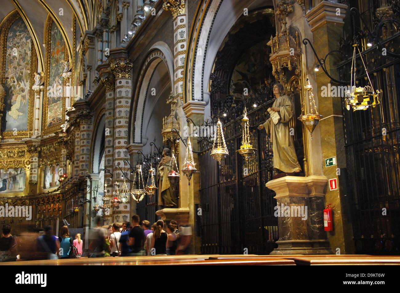 Montserrat monastery near Barcelona Spain Stock Photo