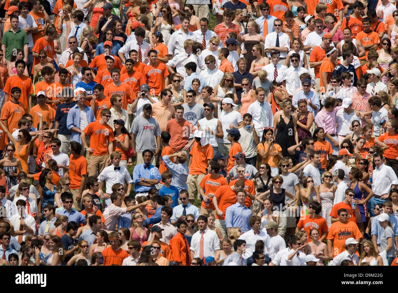General View Of The University Of Virginia Student Section