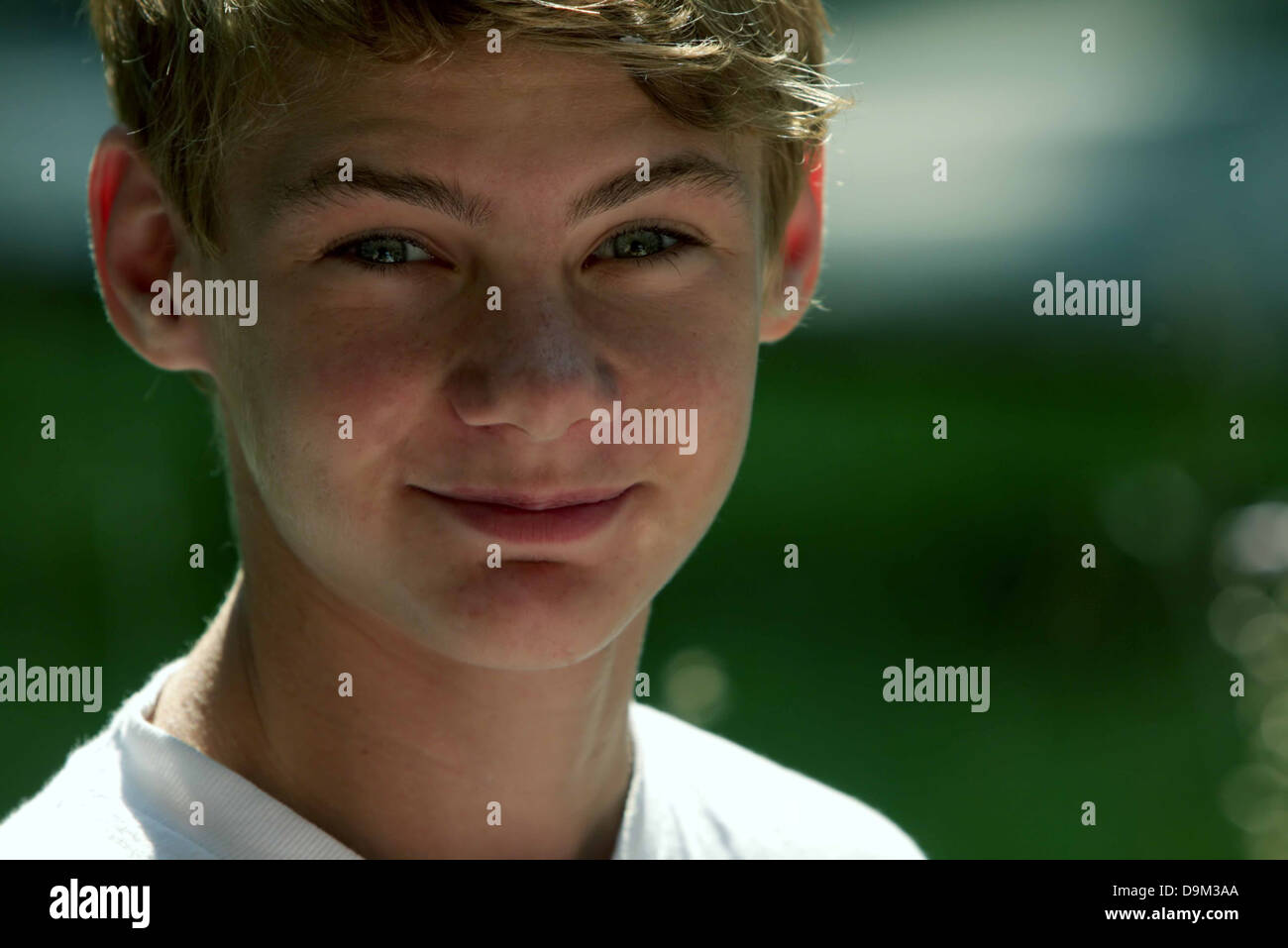 Blond Blonde Hair Boy Youth Young Child Kid Smile Smiling Head And