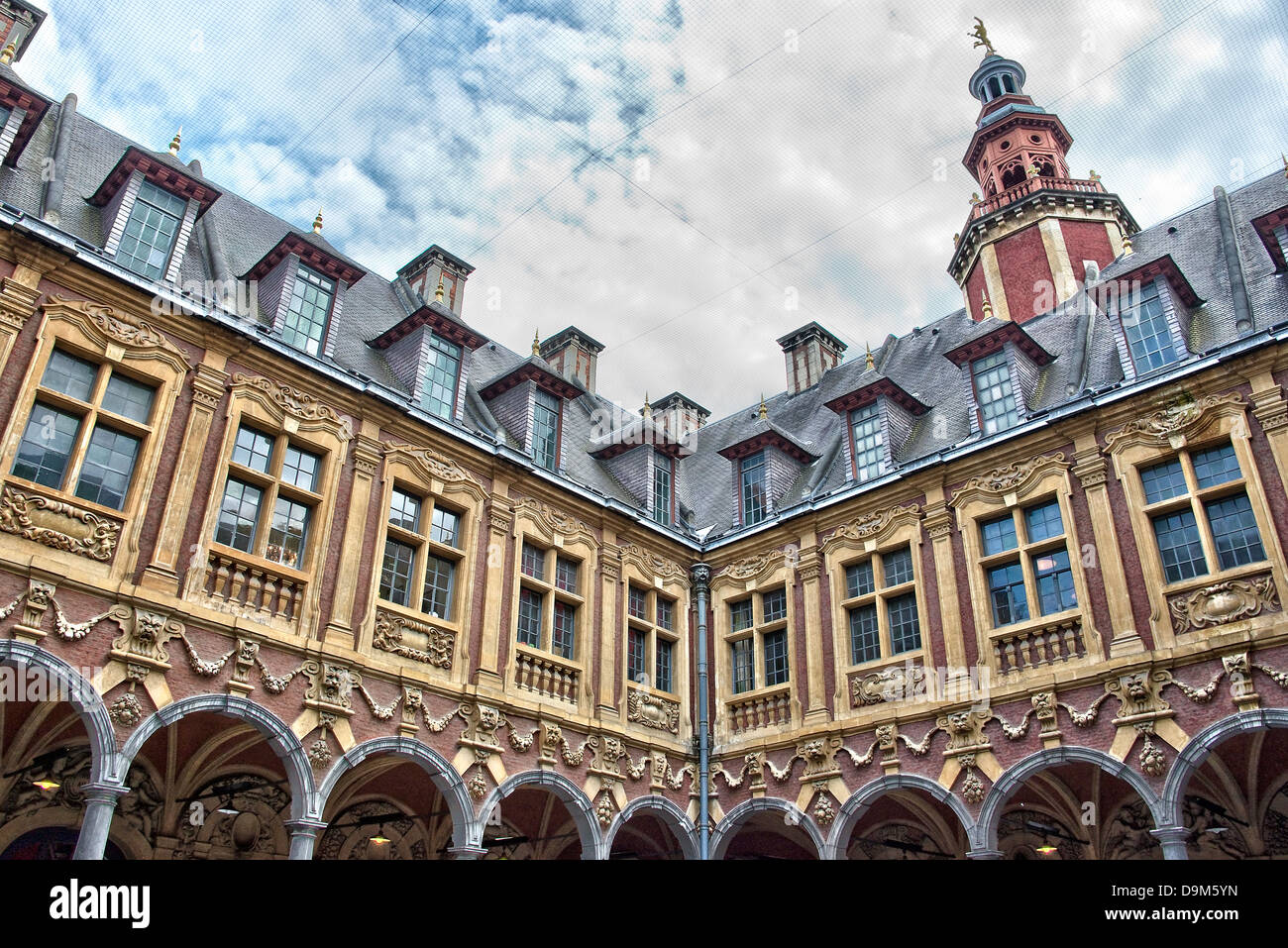 La Vieille Bourse - Lille, Northern France - Stock Image