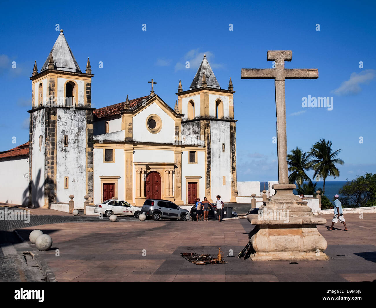 Santo Antonio do Carmo church in Olinda near Recife, Brazil. - Stock Image