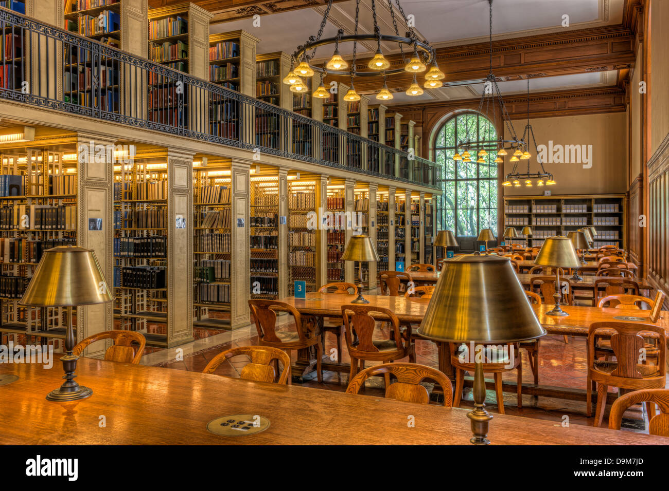 The New York Public Library's Milstein Division of United States History, Local History and Genealogy (Genealogy - Stock Image
