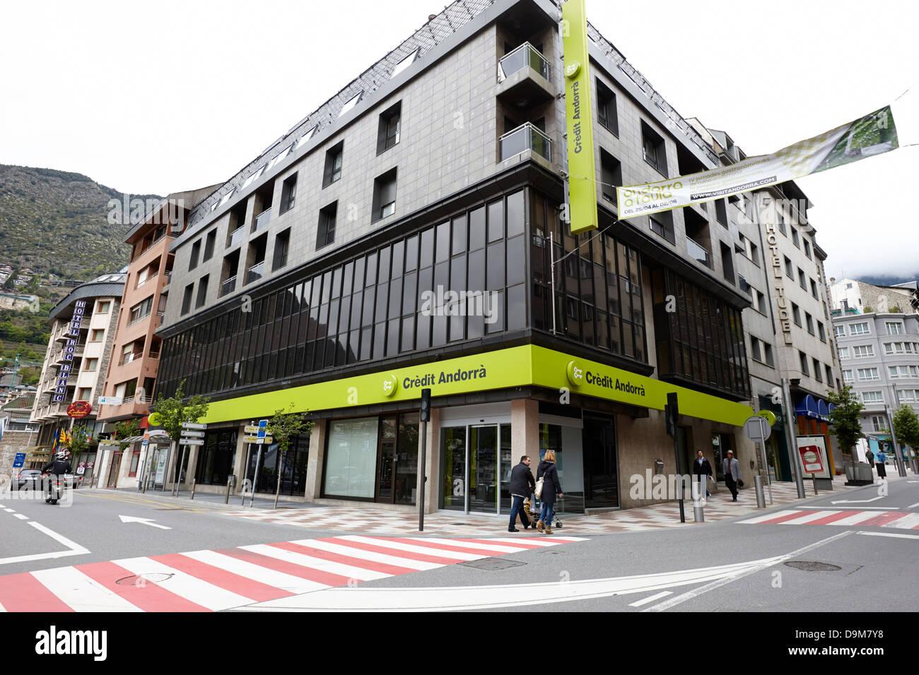 credit andorra bank andorra la vella andorra - Stock Image