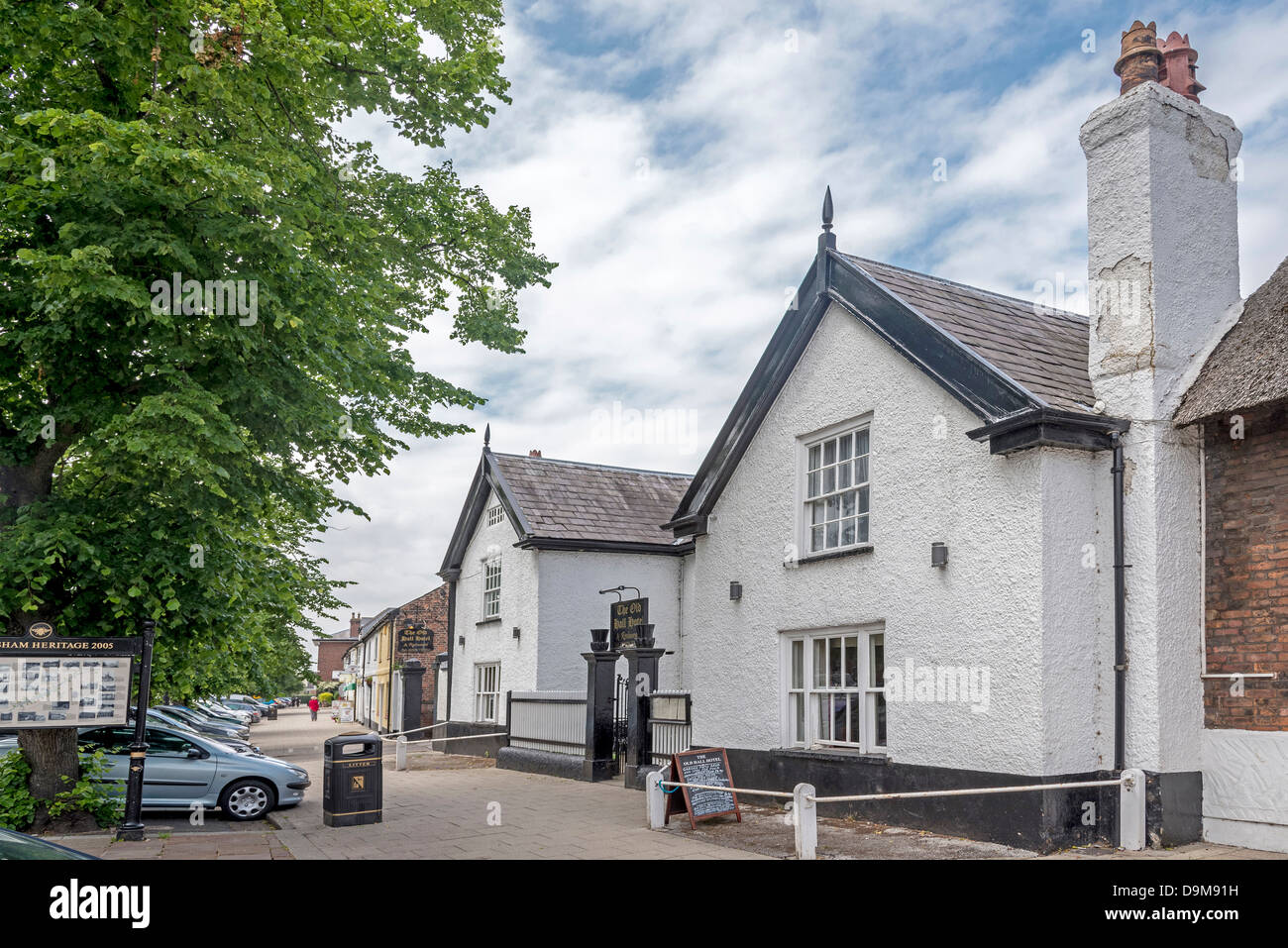 The Old Hall Hotel a 16th Century hotel in Main street. It is mentioned in the Doomsday Book - Stock Image
