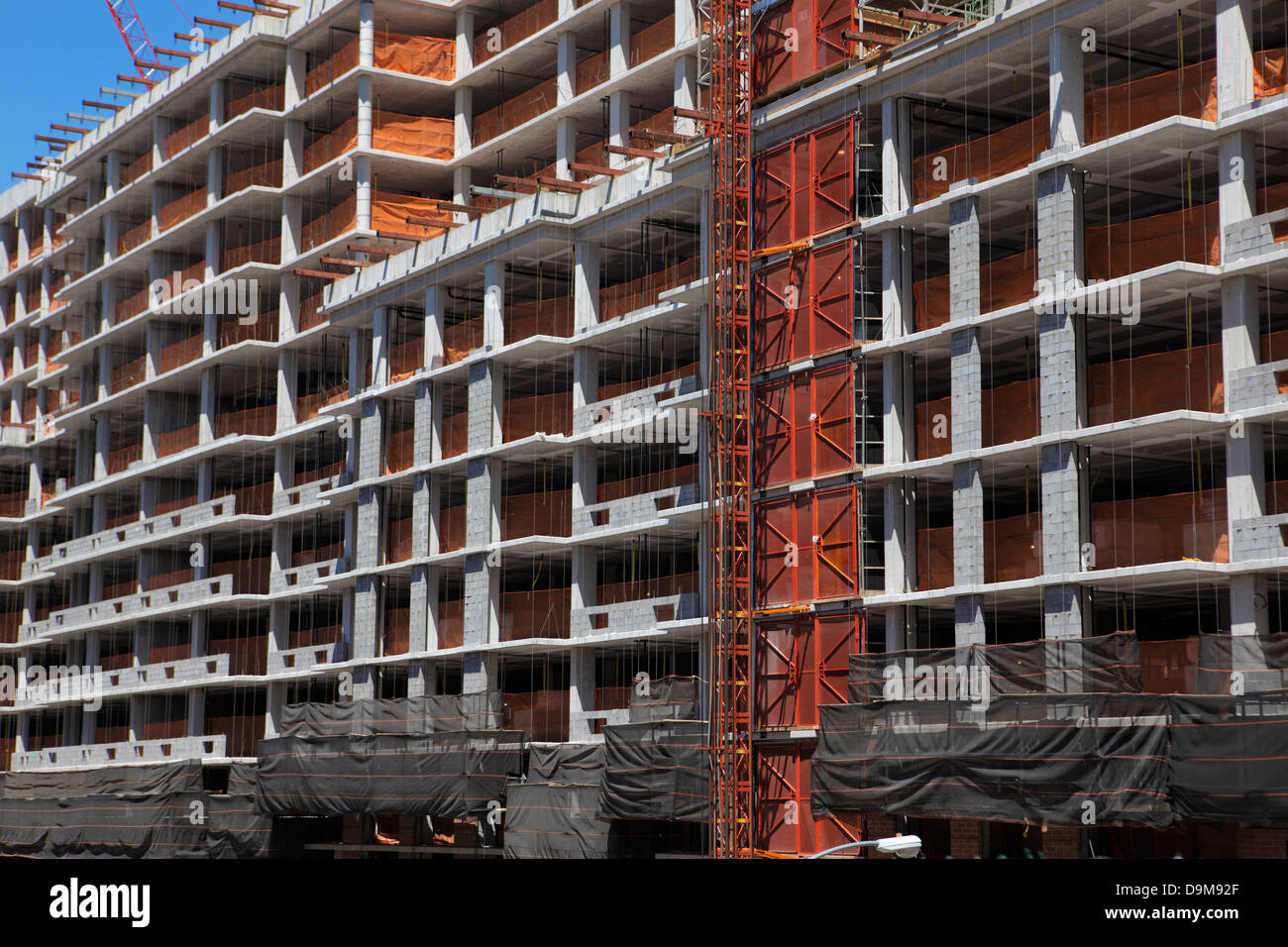 building under construction in New York City Stock Photo