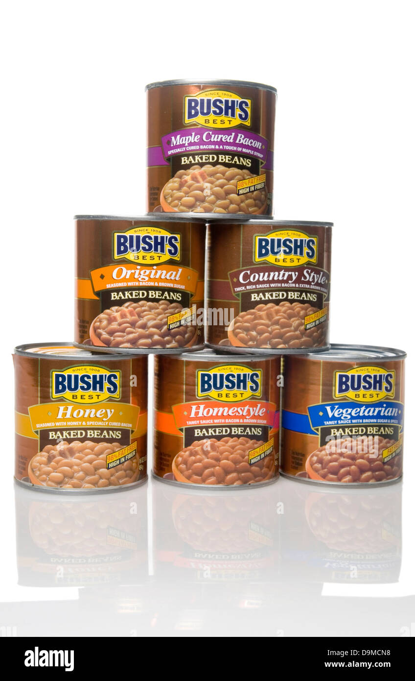 Bush's Can Beans USA - Stock Image